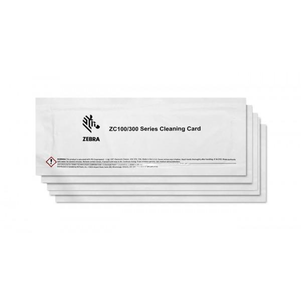Kit de limpieza zebra para impresoras zc100 zc300 5 tarjetas