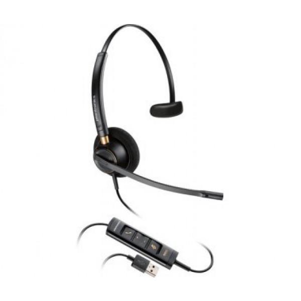 Diadema Plantronics Encore Pro Hw515 - USB - Micrófono - Negro