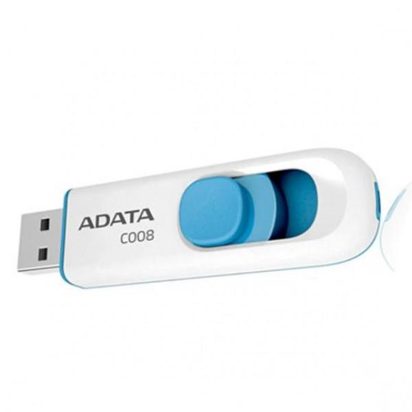 MEMORIA ADATA USB 2.0 C008  RETRACTIL 16GB BLANCA
