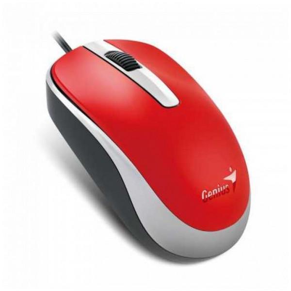 Mouse GENIUS alámbrico USB DX-120 (red),