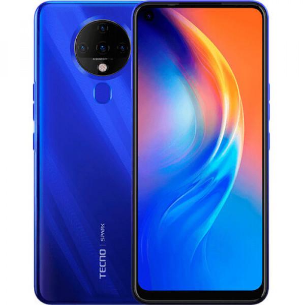 """Celular Tecno Spark 6 Azul Pantalla Hd 6.8"""" 128gb/ Ram 4gb/ 5000 Mah"""