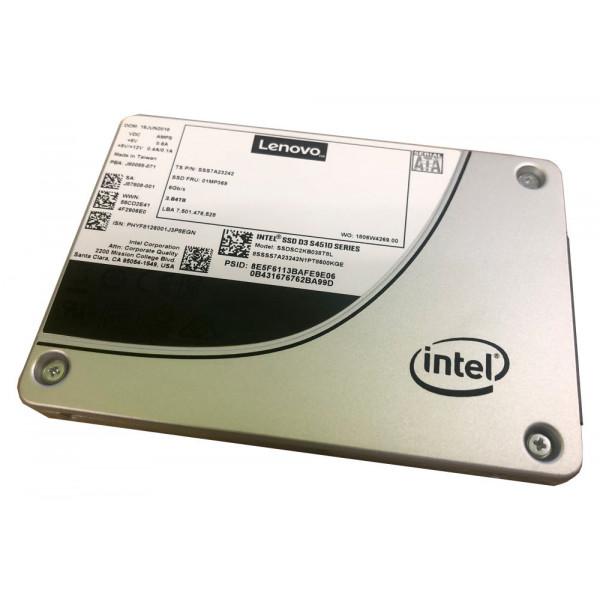 Unidad de estado solido Lenovo ThinkSystem 2.5 pulgadas intel s4510 480 gb entry sata 6 gb hot swap ssd
