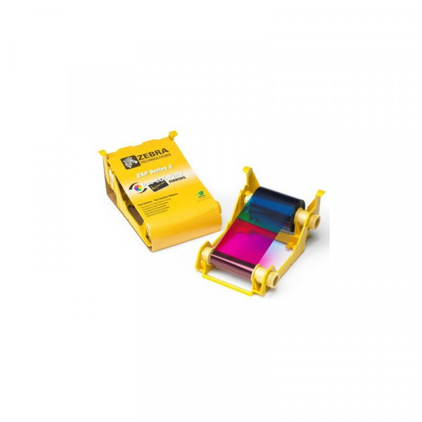 Ribbon Zebra Cartridge COLOR YMCKO Para impresoras ZXP3 IX Series.