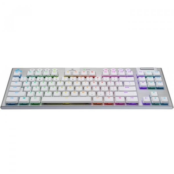 Teclado Gamer Logitech G915 TKL - Inalámbrico - Bluetooth - RGB - Blanco