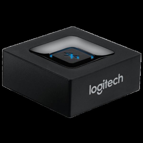 Adaptador Bluetooth Logitech Convertidor Audio Plug 3.5mm/RCA Compatible Win-Mac-Android Alcance 15Metros Garantía 1Año-NEGRO