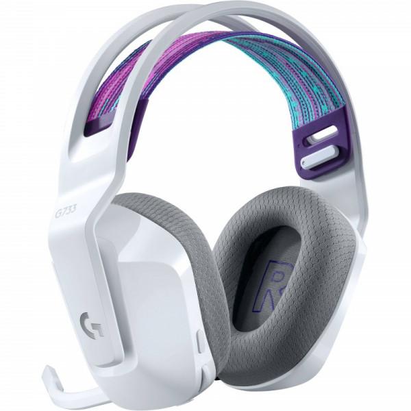 Audífonos Logitech G733 Con Micrófono Inalámbricos Lightspeed Rgb Para Juegos blanco