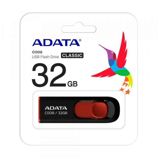 Memoria adata USB 2.0 C008 retractil 32GB Negra