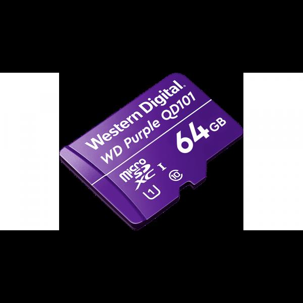 Memoria MicroSD 64GB Morada Western Digital SC-QD101