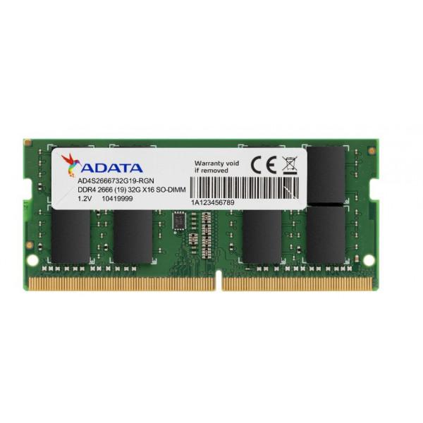 MEMORIA ADATA  RAM PORTATIL DDR4 16GB BUS 2666 / MEMORIA ADA