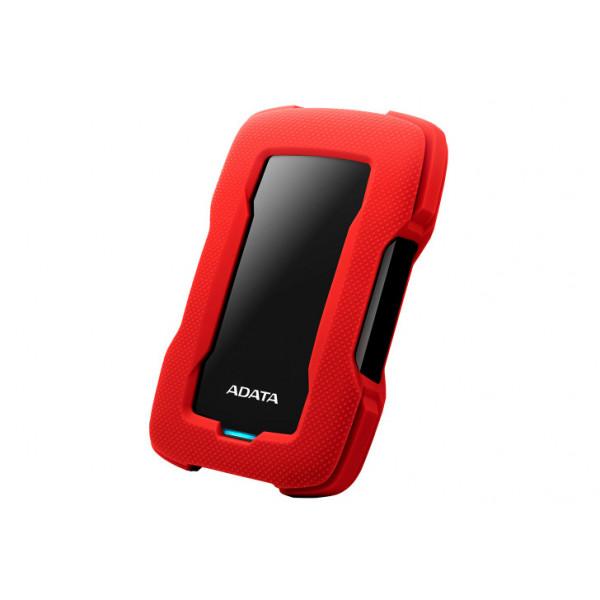 Disco externo Adata antigolpes/salpicaduras hd330 1tb rojo
