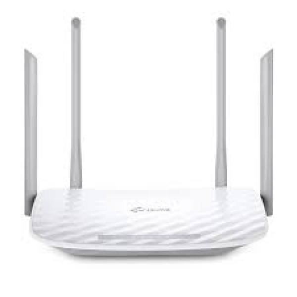 Router TPLINK Inalambrico doble banda AC 1200 Dual Band 4 Antenas externas.