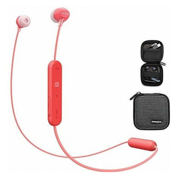 Audífonos internos inalámbricos Sony WI-C300 Rojo