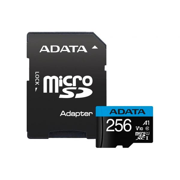 Memoria MicroSDXC ADATA Premier - 256GB - Clase 10 - UHS-I - C/Adaptador