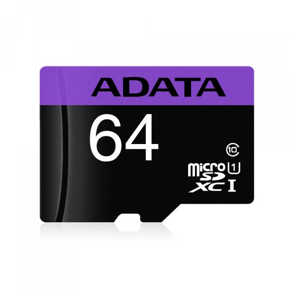 Tarjeta de Memoria Microsd Adata 64 Gb Adap Sd Clase10