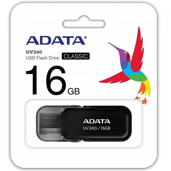 MEMORIA ADATA USB 2.0 UV240 ESCUALIZABLE 16GB NEGRA