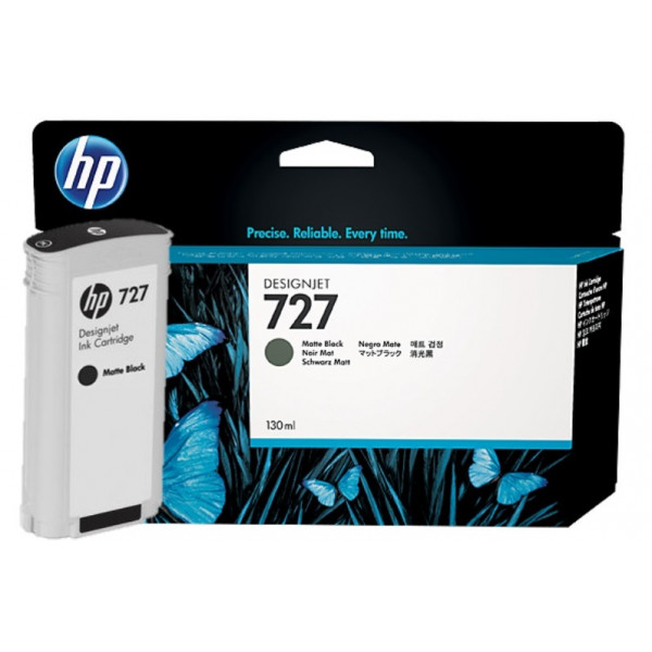 Cartucho de tinta HP 727 DesignJet negro mate de 130 ml