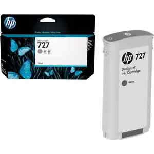Cartucho de tinta HP 727 DesignJet gris de 130 ml