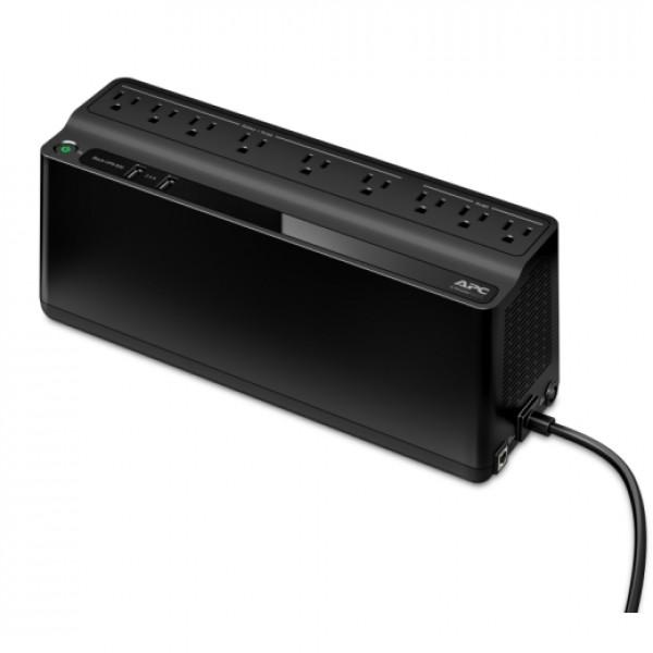 Unidad Back-UPS ES de APC 850 VA, 2 puertos de carga USB, 120 V