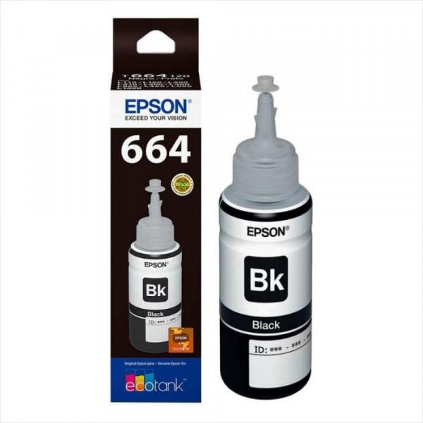 Botella Epson T664120 - Black IMPRESORA EPSON L200/210/350/355/555 (4.500 paginas)