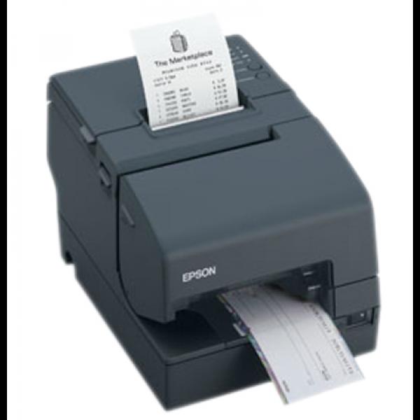 Impresora EPSON Matricial de Recibos y Validación. 76mm, Docto Suelto, Puerto USB, No Incluye Fuente. Negra. TM-U675-082.