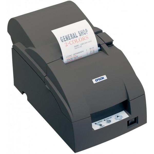 Impresora EPSON Matricial de Recibos. Rollo Auditoría, 76mm, Autocortador, Puerto USB, Incluye Fuente. Negra. TM-U220A-163