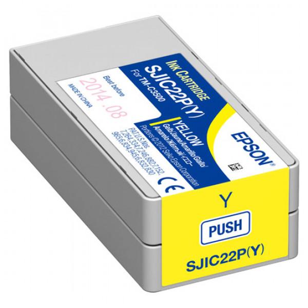 Cartucho de Tinta Amarillo Epson SJIC22P Tinta