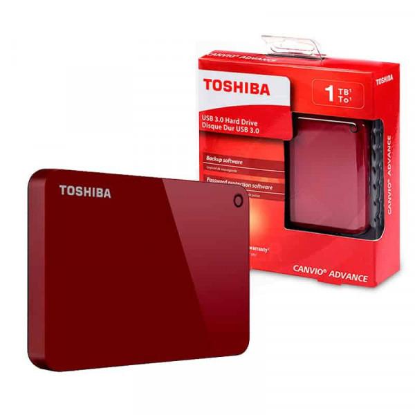 Disco Duro Externo Toshiba Canvio Advance 1TB Rojo