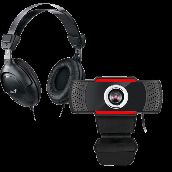 Super combo videoconferencia cámara web HD + Diadema