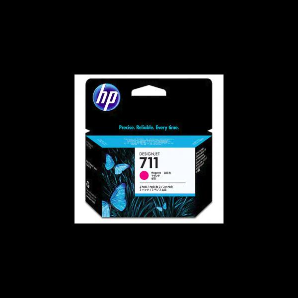 Pack de ahorro de 3 cartuchos de tinta DesignJet HP 711 de 29 ml Magenta
