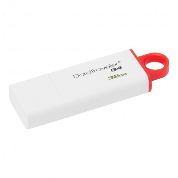 Memoria USB 32GB USB 3.0 DataTraveler I G4 (White + Red)