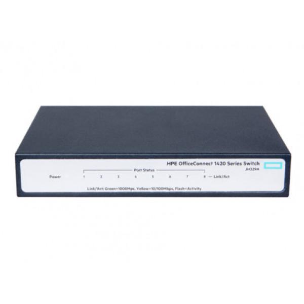 Switch HPE OfficeConnect 1420 - 8 Puertos - Gigabit - No Gestionado