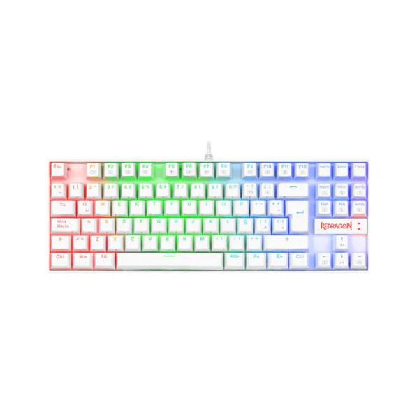 Teclado Gamer ReDragon RGB Color Blanco