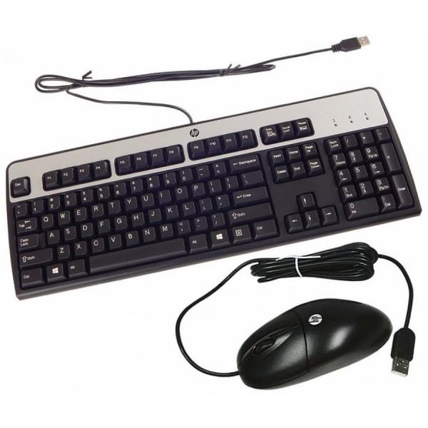 Combo Teclado + Mouse HPE USB Negro