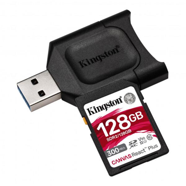Tarjeta Micro SD Kingston Canvas React Plus 128GB