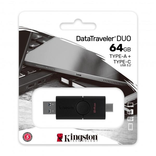 Memoria USB Kingston Datatraveler Duo 64GB Tipo A y C