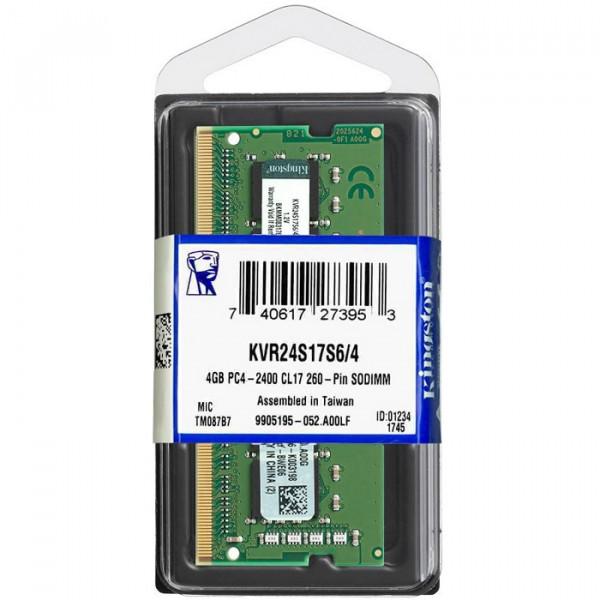 Memoria RAM Kingston KVR DDR4, 2400MHz, 4GB