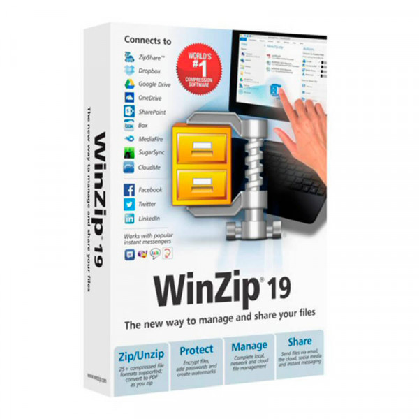 Funciones de licencia de software Corel WinZip 17 Pro, EDU, 1Y, 500-999U, ML