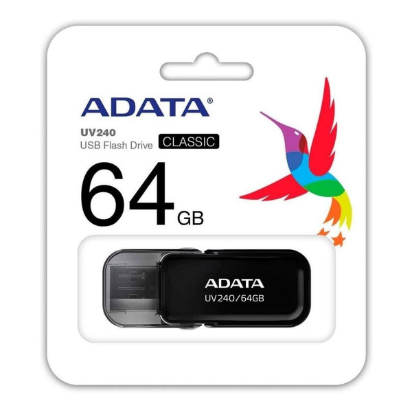 Memoria Adata USB 2.0 UV240 escualizable 64GB Negra
