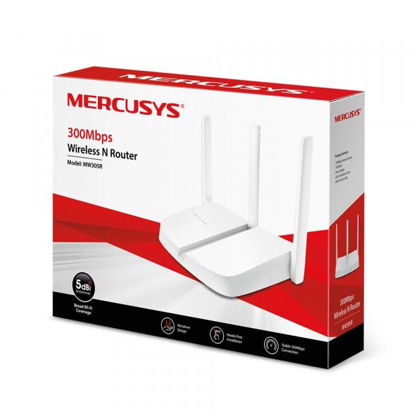 Router  Mercusys Inalambrico 300Mbps , 3 Antenas externas.