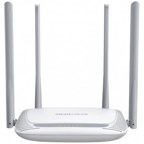 Router  Mercusys Inalambrico 300Mbps,4 Antenas externas.