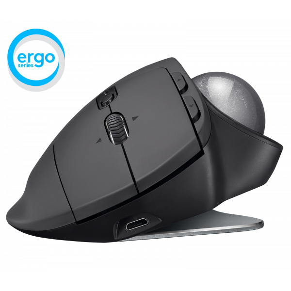 Mouse Inalámbrico Logitech Ergo M575 Negro