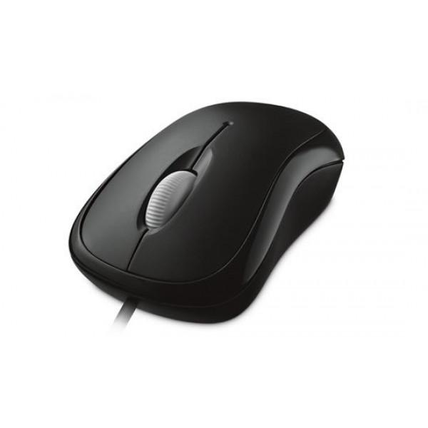 Mouse Óptico Microsoft Básico - Alámbrico - USB