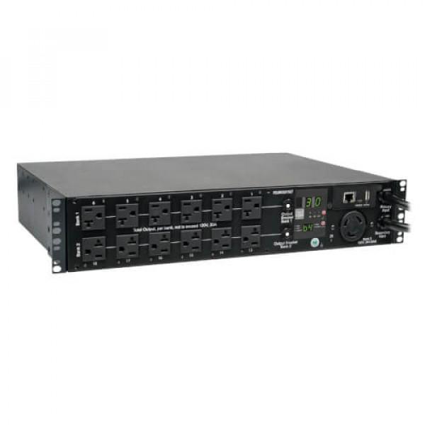 PDU Tripplite Monofásico Controlable / Switch de Transferencia Automática 2.9kW Horizontal