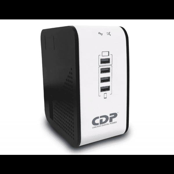 Regulador CDP de Voltaje CDP, 1000VA/400W 8 Tomas de Salida Puerto USB