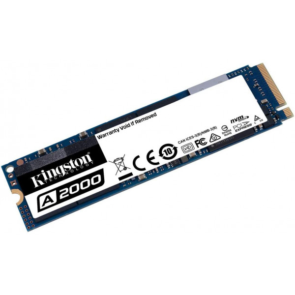 Unidades de estado solido SSD Kingston A2000 M.2 2280 NVMe PCIe Gen 3x4 250GB