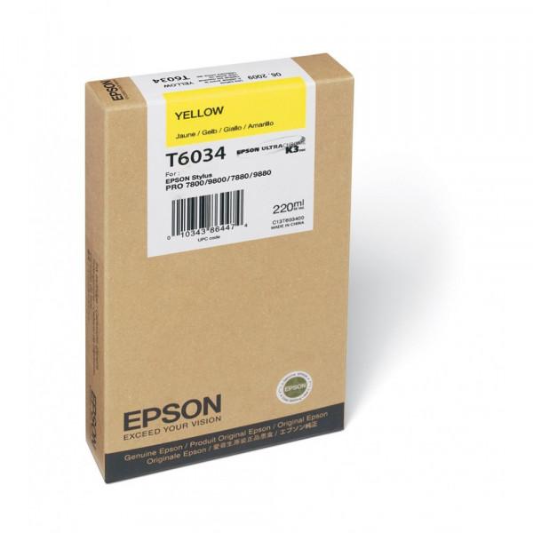 Cartucho de Tinta Amarillo Epson T603 UltraChrome K3