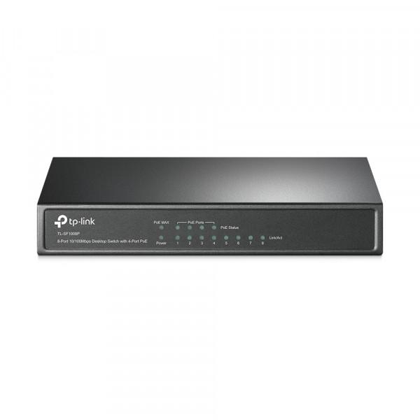 Switch TP-LINK NO administrable 4 Puerto POE de 8 Puertos de 10/100Mbps