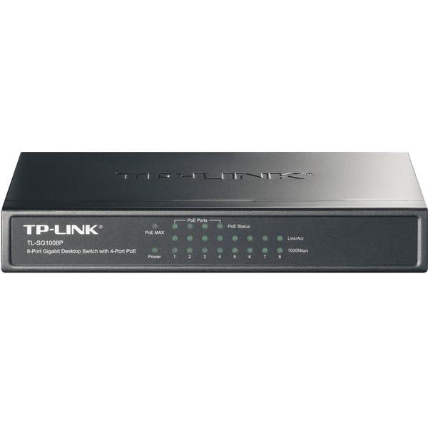 Switch TP-LINK NO administralbe  de 8 Puertos Gigabit con 4 Puertos PoE