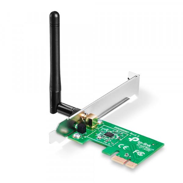 Adaptador de Red TPLINK PCI- Express; N 2.4 GHz, 150Mbps, 1 Antena externa